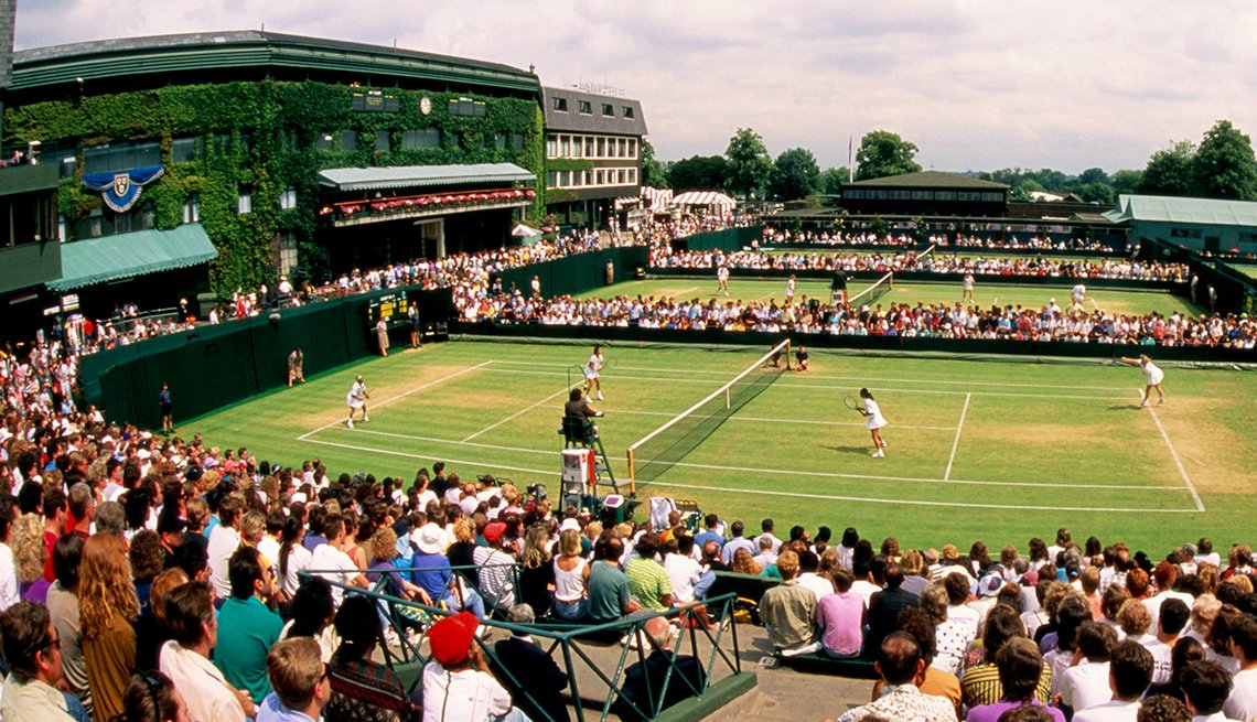Crowds Watching Players in Wimbledon Championships at the All England Club, Affordable United Kingdom, Travel