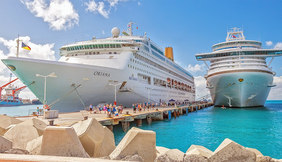 Cruise Ships Docked on Dutch Side of St. Maarten, Caribbean Island Guide