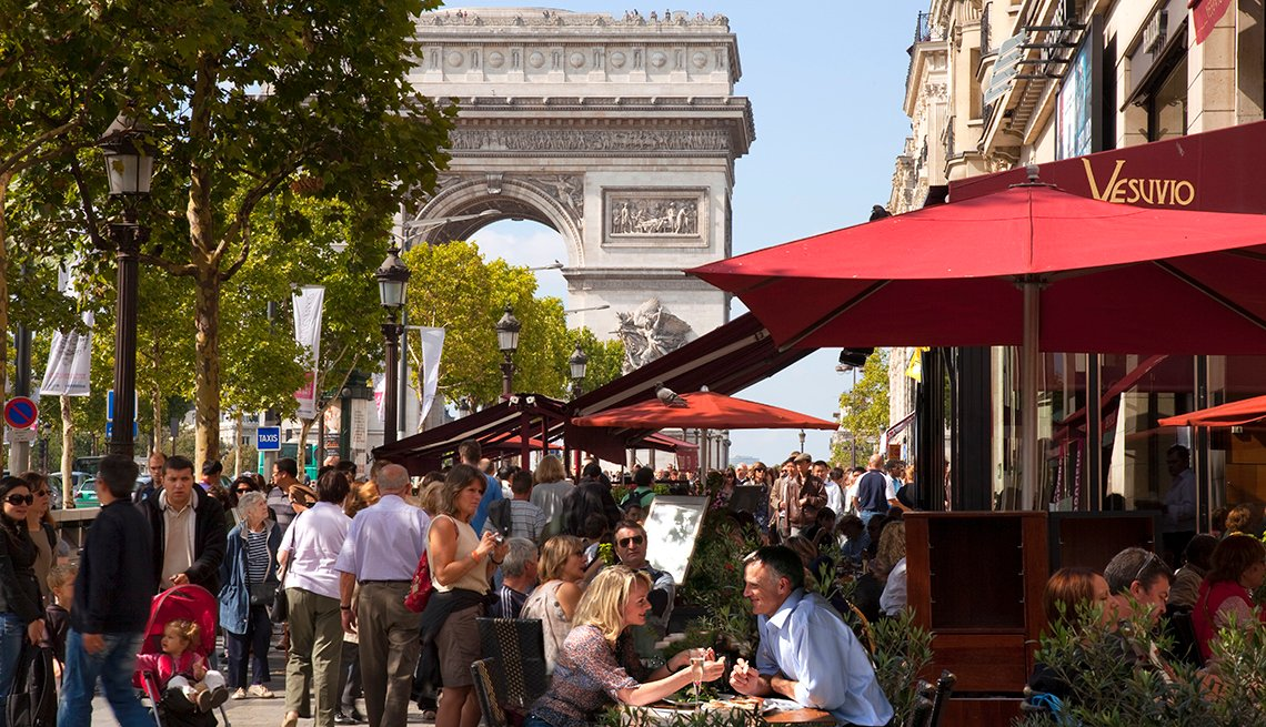 Arc De Triomphe, Cafes Champs Elysees, Affordable Europe: 8 Iconic Cities Not to Be Missed