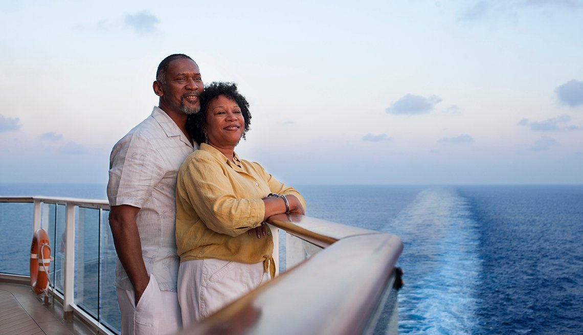 Couple Looking Out Ocean, Cruise Liner Deck, World's Best Budget Places