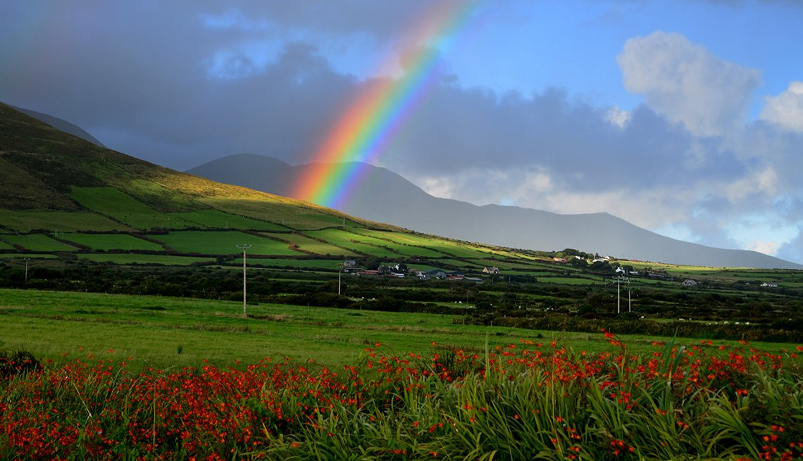 Rainbow over Green Fields. Ireland, Affordable Europe: 8 Iconic Cities Not to Be Missed