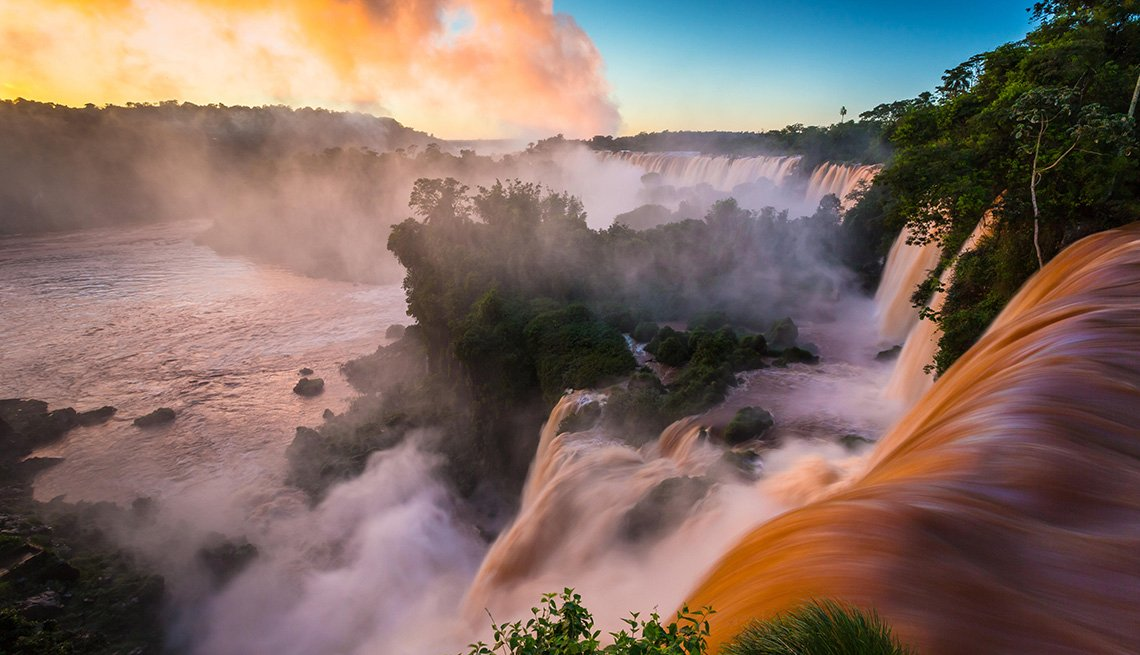 The Waterfalls At Iguazu Falls In Argentina, Latin American Natural Wonders