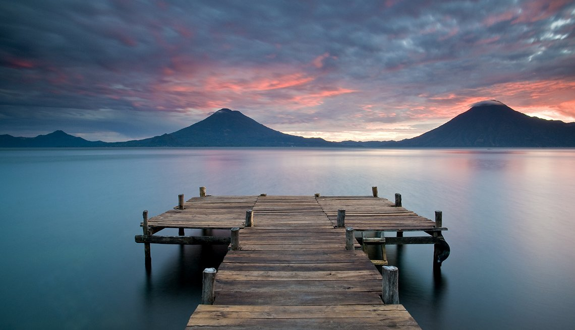 Lake Atitlan In Guatamala, Latin American Natural Wonders