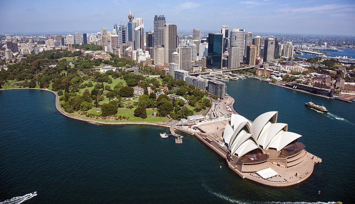 Sydney Opera House, Downtown Sydney Harbor, Aerial View, World's Best Budget Places