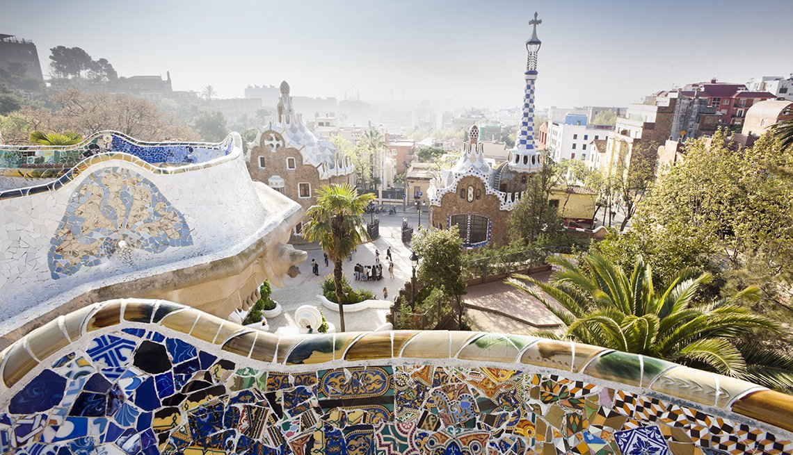 Parc Guell, Gaudi Wall, Bacelona, Spain, Affordable Europe: 8 Iconic Cities Not to Be Missed