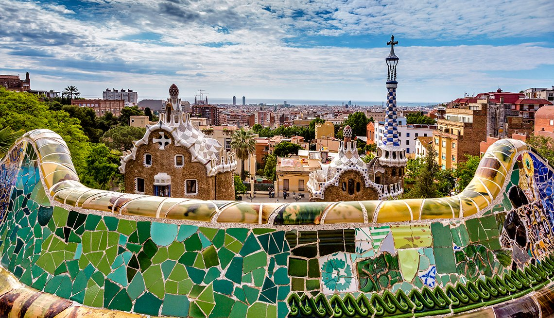Park Guell, Antonin Gaudi, Tile Walls, Barcelona: A City Splendid for Strolling