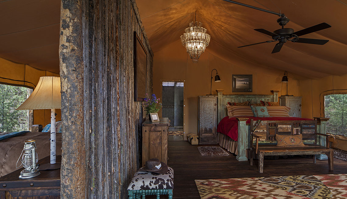 Interior Of The Resort At Paws Up In Montana, Global Glamping