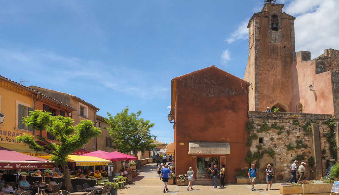 Plaza and Belfry in Roussillon Village, Provence, France, Provence Attractions