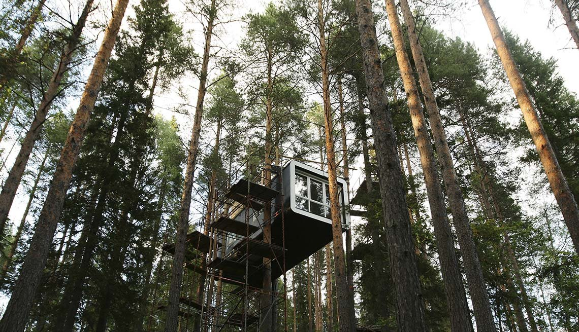 A Treehotel Located High In The Trees In Sweden, Global Glamping