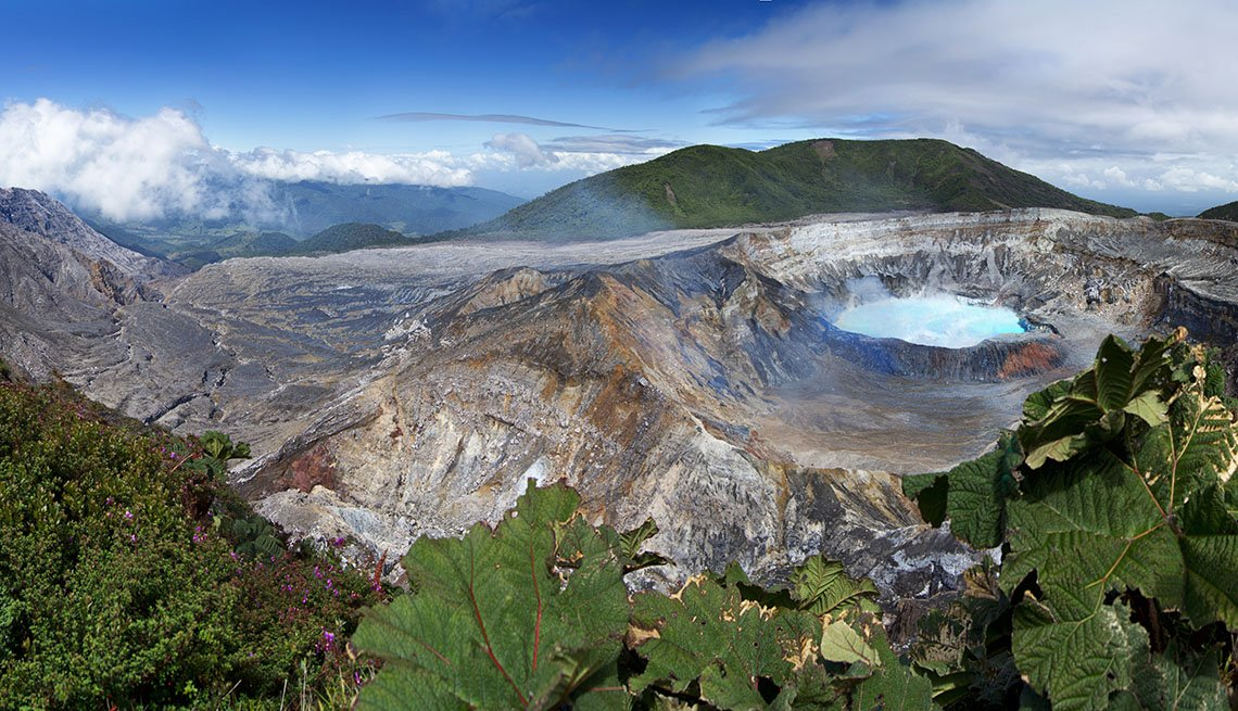 View Of Poas Volcano In Costa Rica, Latin American Natural Wonders