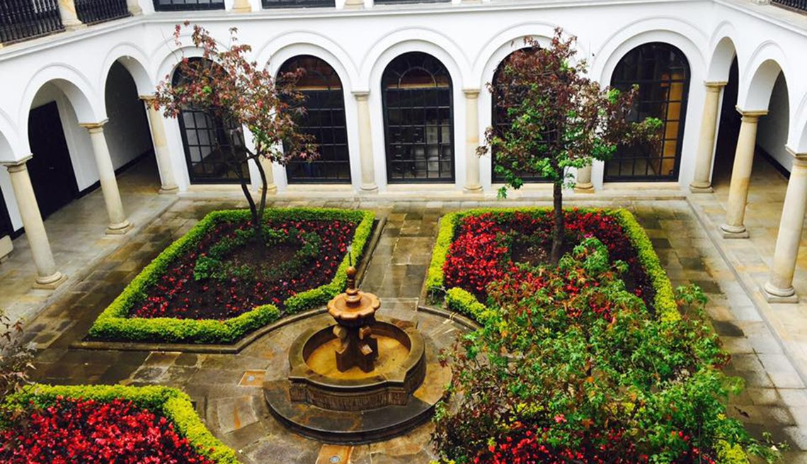 The Inner Courtyard Of The Museo Botero, Colombia Slideshow