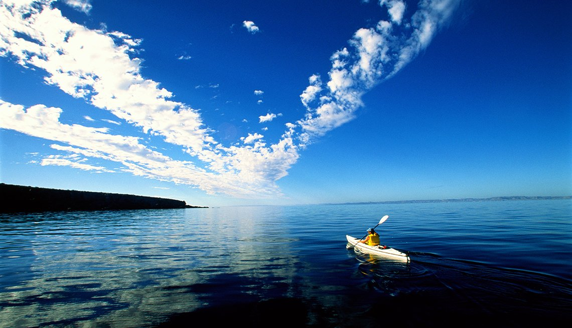 Lone Kayaker In Mexico, All Inclusive Mexican Resorts