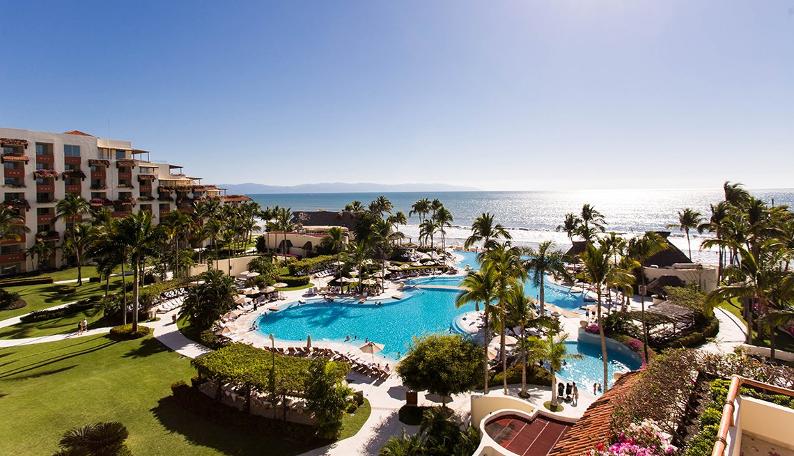 Aerial View Of The Property At Grand Velas Riviera, All Inclusive Mexican Resorts