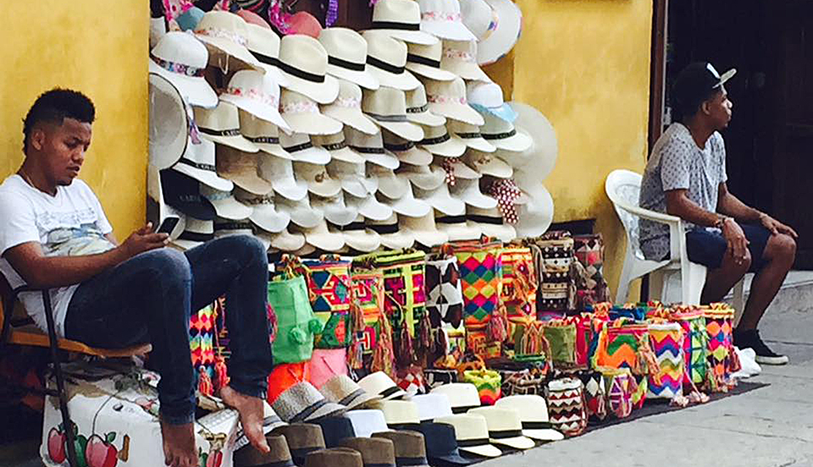Men Selling Traditional Aguadeno Hats, Colombia Slideshow