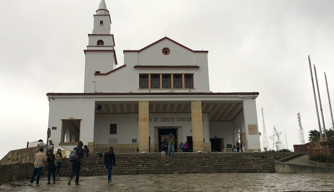 The Front Of Monserrate Church In Colombia, Colombia Slideshow