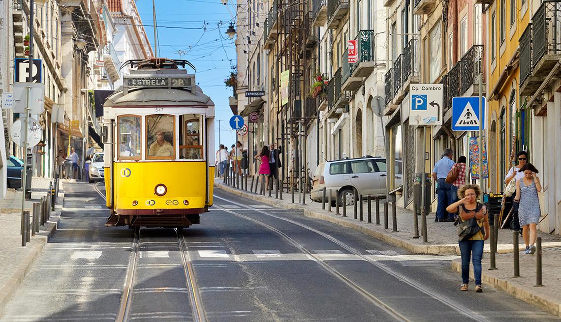Transporte popular en Lisboa, Portugal.