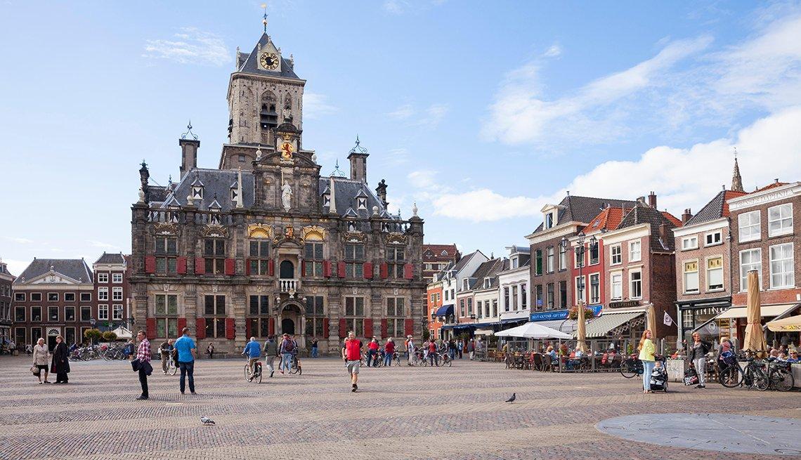 Mercado del ayuntamiento en Amsterdam.