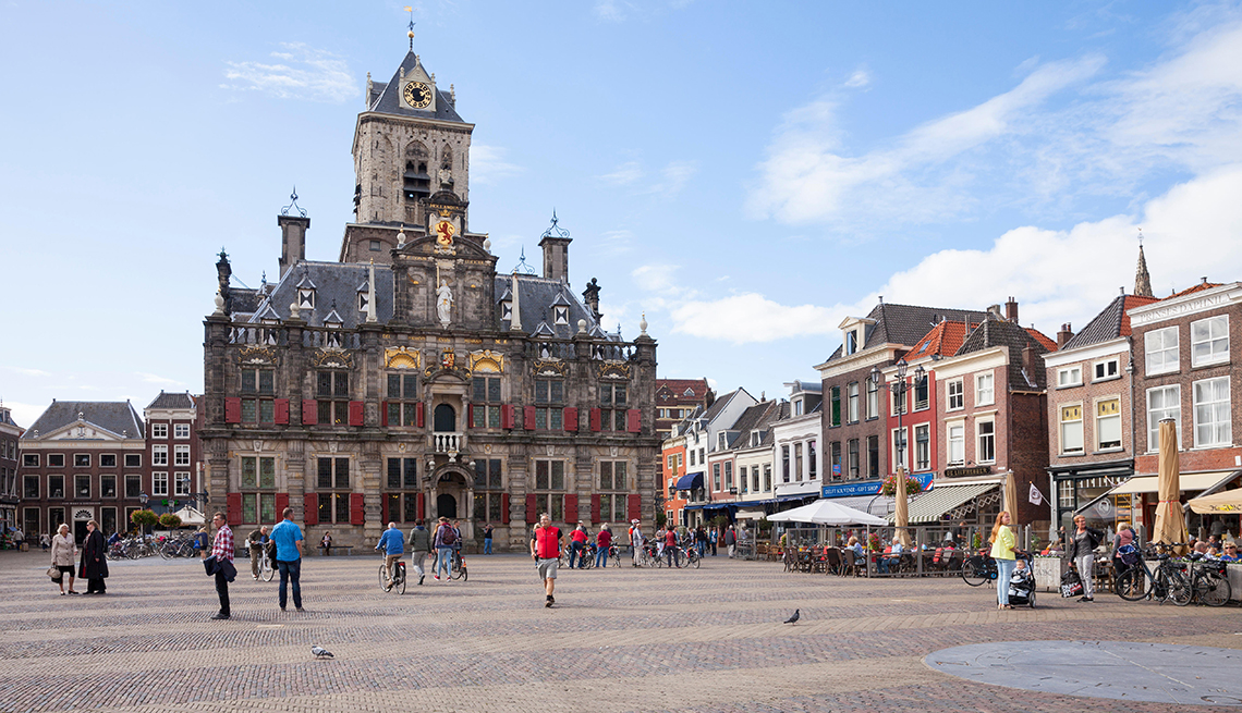 Stadhuis, city hall market in Amsterdam