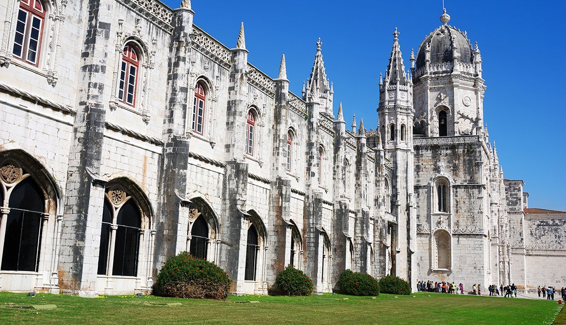 Jeronimos Monastery located in Lisbon, Portugal
