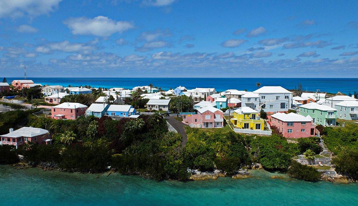 Casas de colores en Bermuda