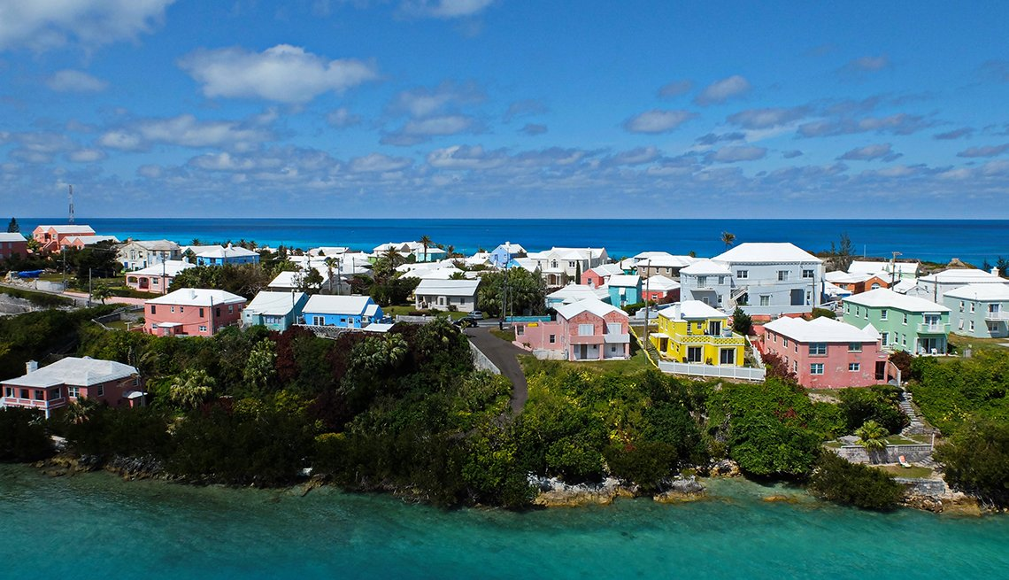 Colorful homes in Bermuda