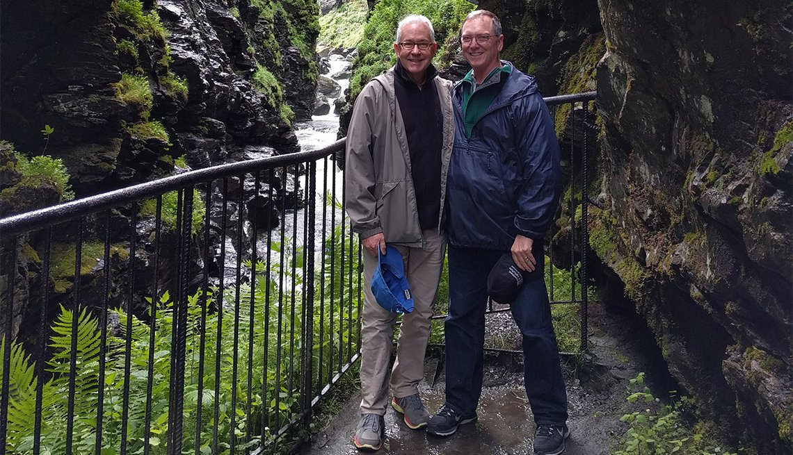 Christopher Hall and partner in Norway