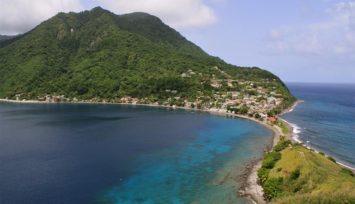 Panorámica de Scott's Head, Dominica