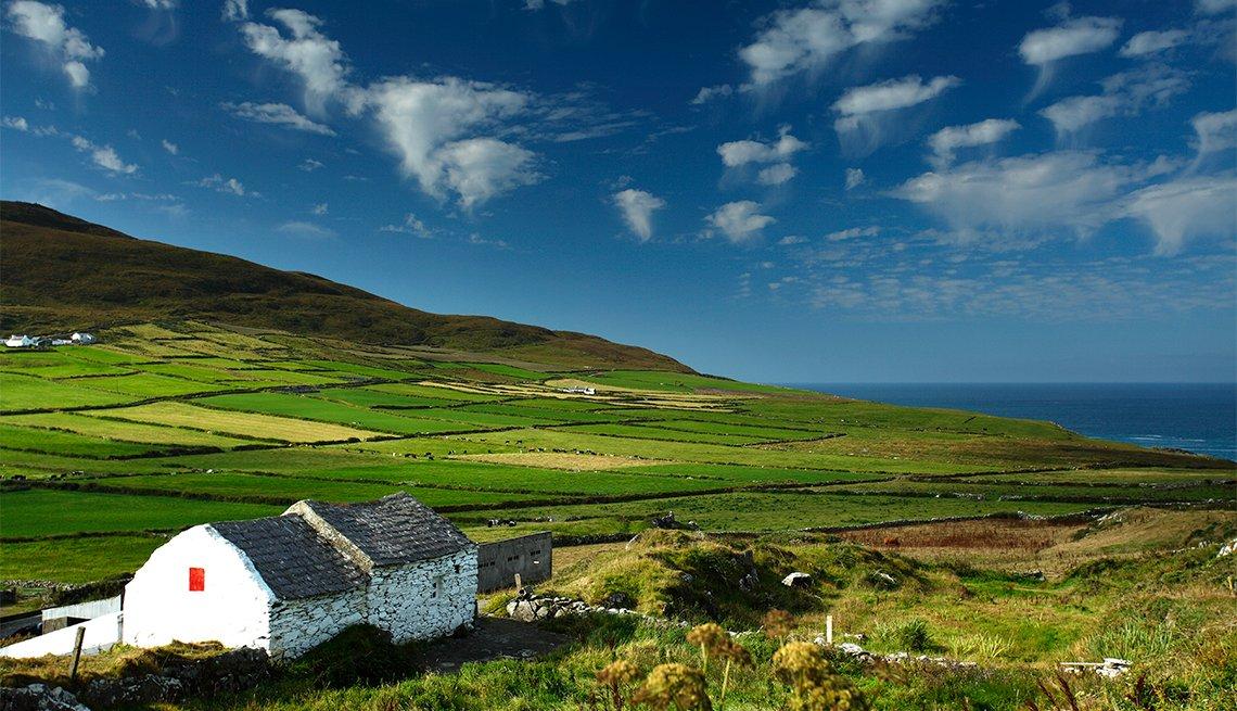 Farmland on Mizen Head on the Wild Atlantic Way coastal route in West Cork