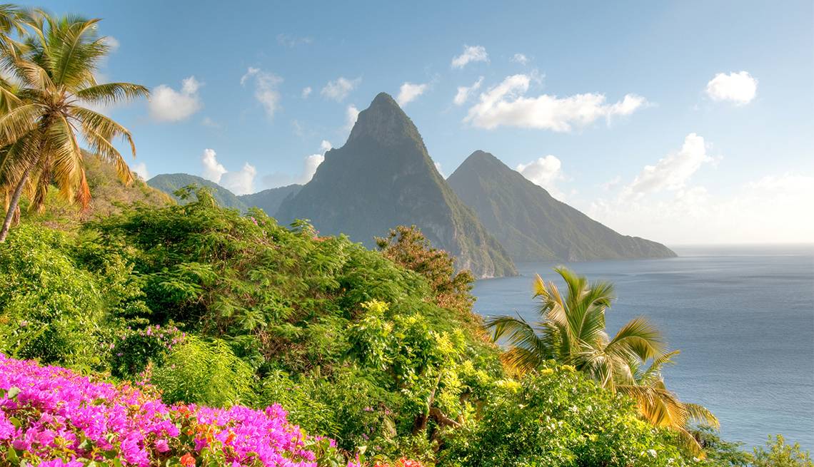famous Pitons in St. Lucia