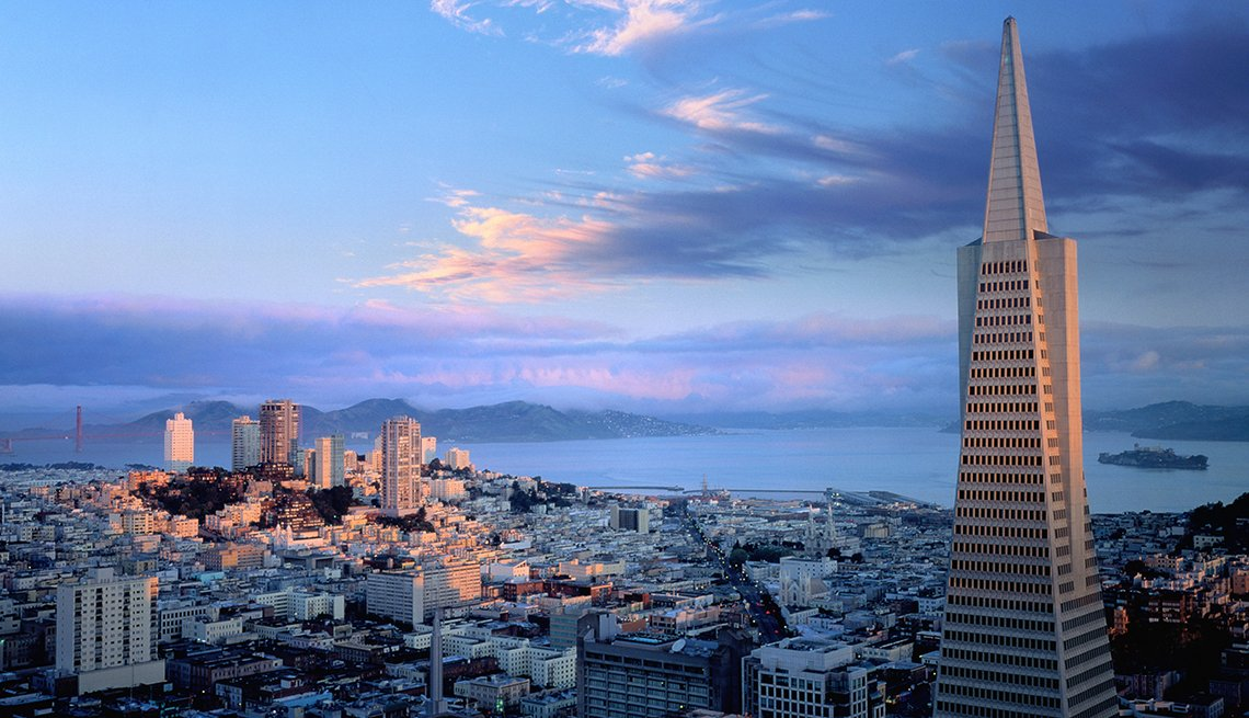 TransAmerica Pyramid in San Francisco, California, America's Coolest Skyscrapers, Travel