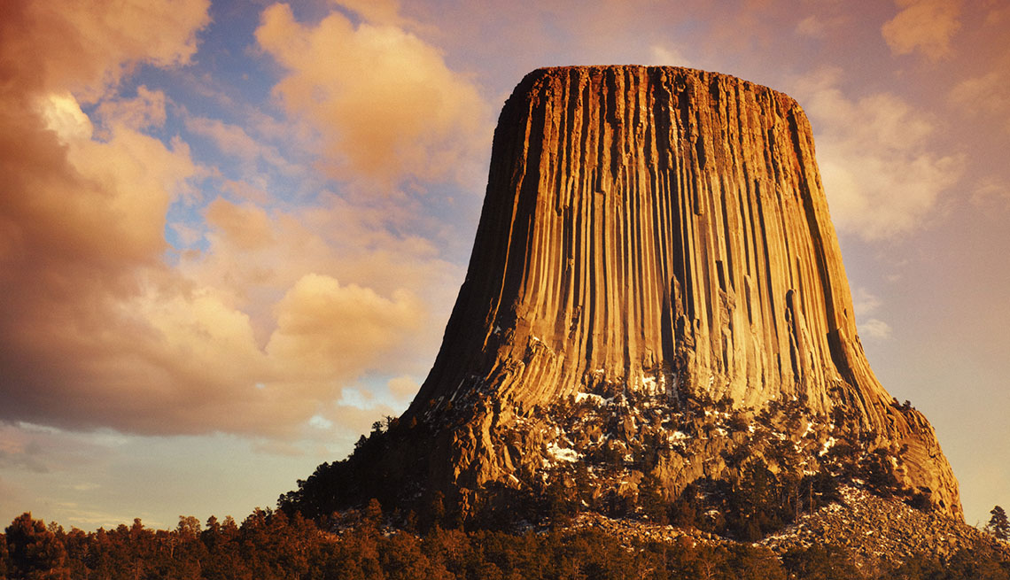 Devil's Tower National Monument At Sunset In Wyoming, Campground Amenities