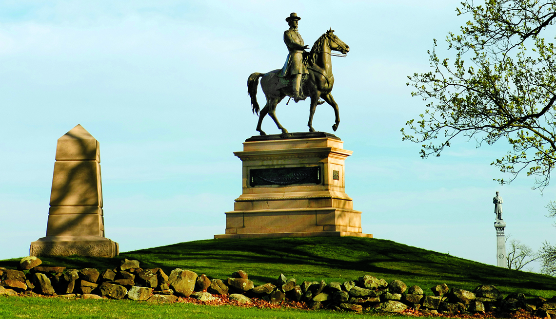 Civil War Monument, Gettysburg National Battlefield, Pennsylvania, Fascinating Civil War Battles Across the Continent
