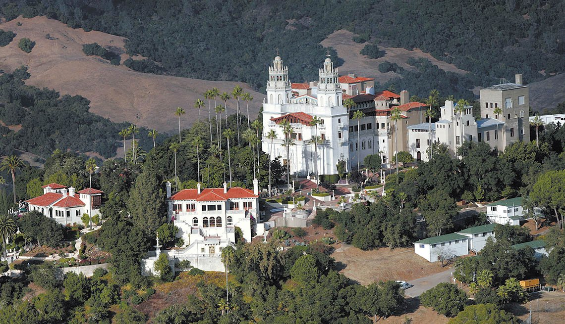 Aerial View Of Hearst Castle In California, Bizarre Buildings