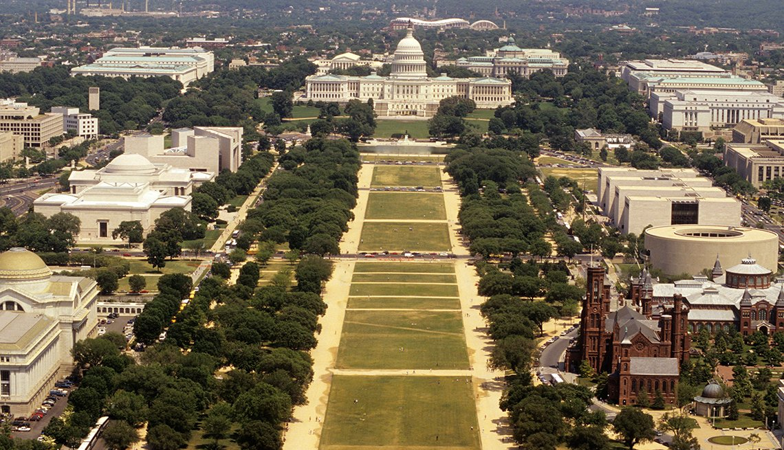 National Mall in Washington, D.C. and the Capitol, Historic Walks and Trails in America, Travel