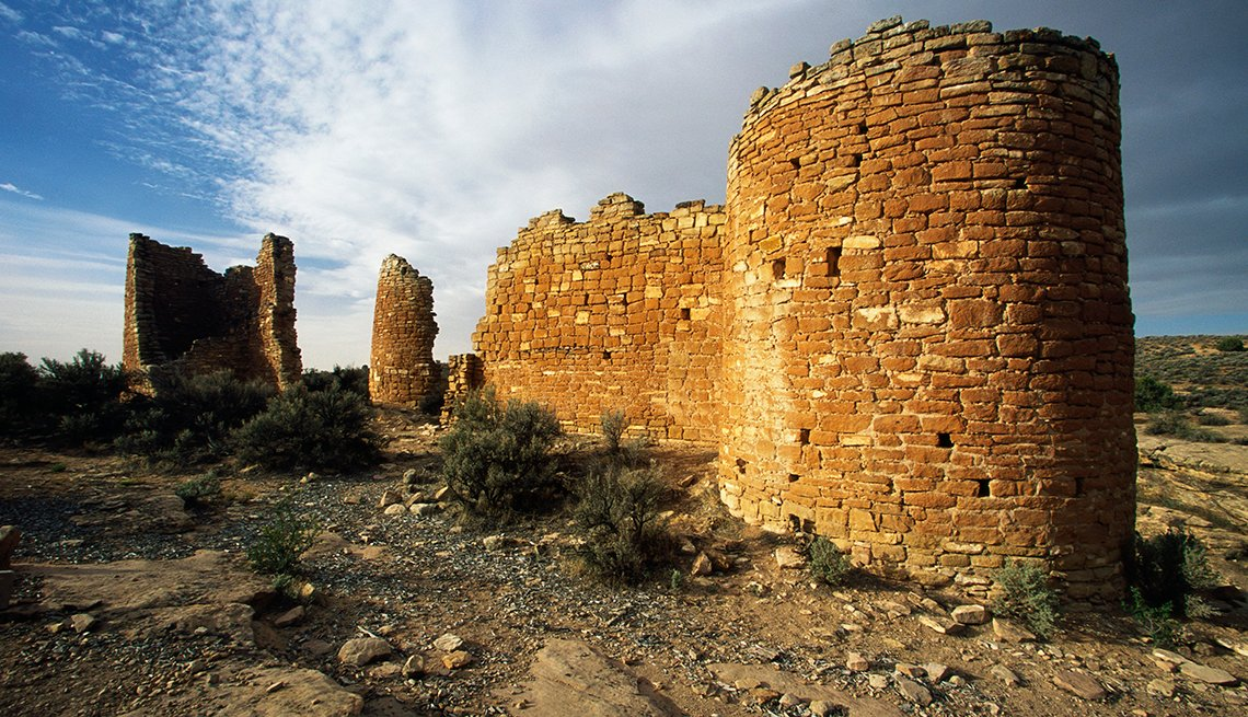 Hovenweep Castle, Stone Ruins, Clouds, Desert, Underrated U.S. Tourist Attractions