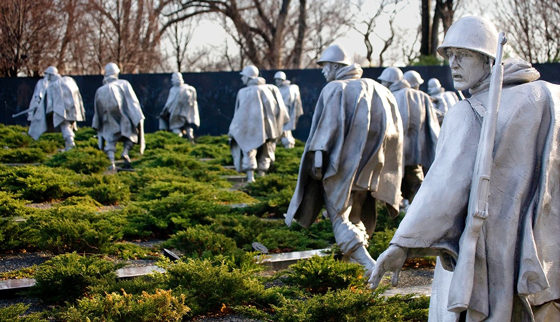 Korean War Veterans Memorial, Washington, D.C. Monuments and Memorials