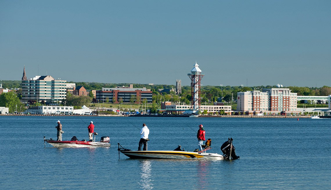 Men On Boats On Presque Isle State Park In Erie Pennsylvania, Best Fishing And Boating Spots In USA