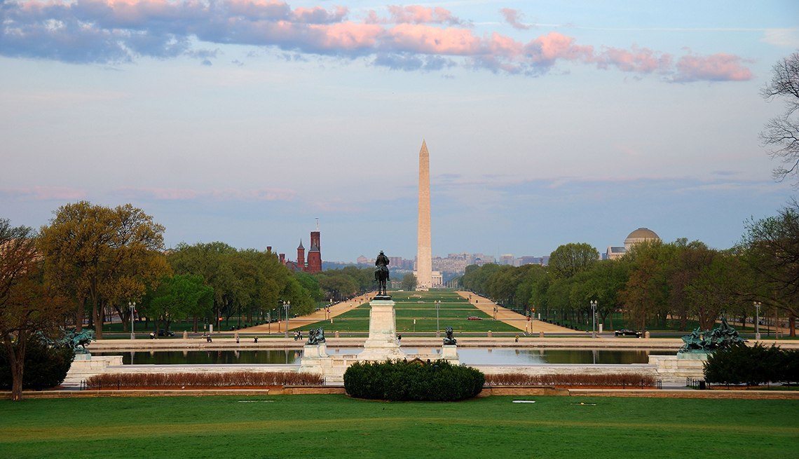 National Mall Sunrise, Washington Monument, Washington, D.C. Monuments and Memorials