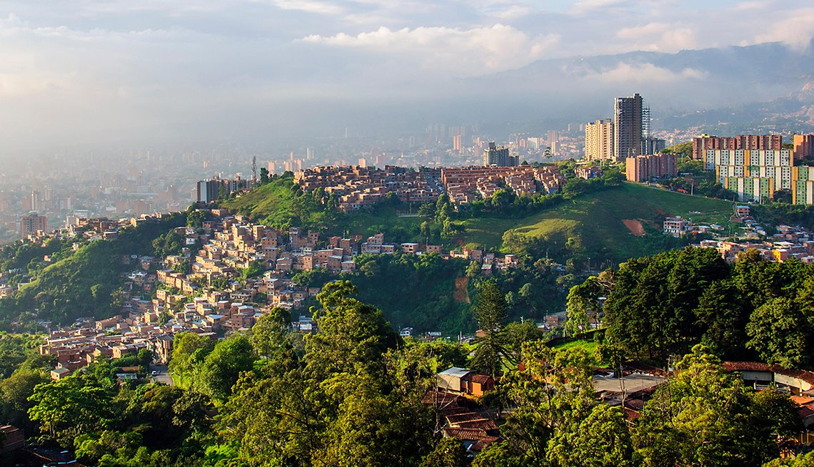 Sun setting over Medellin, Colombia, Adventures for 2017