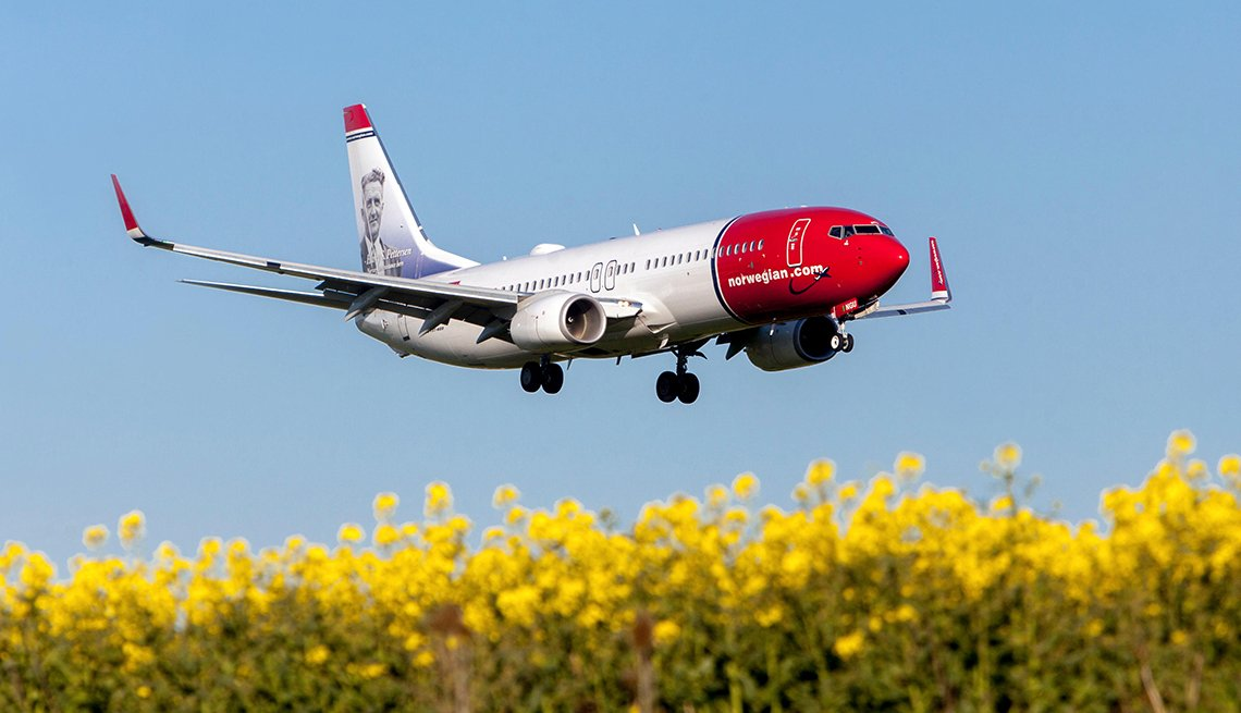 Airplane over Yellow Crops, Landing. Budget-Friendly Travel Ideas
