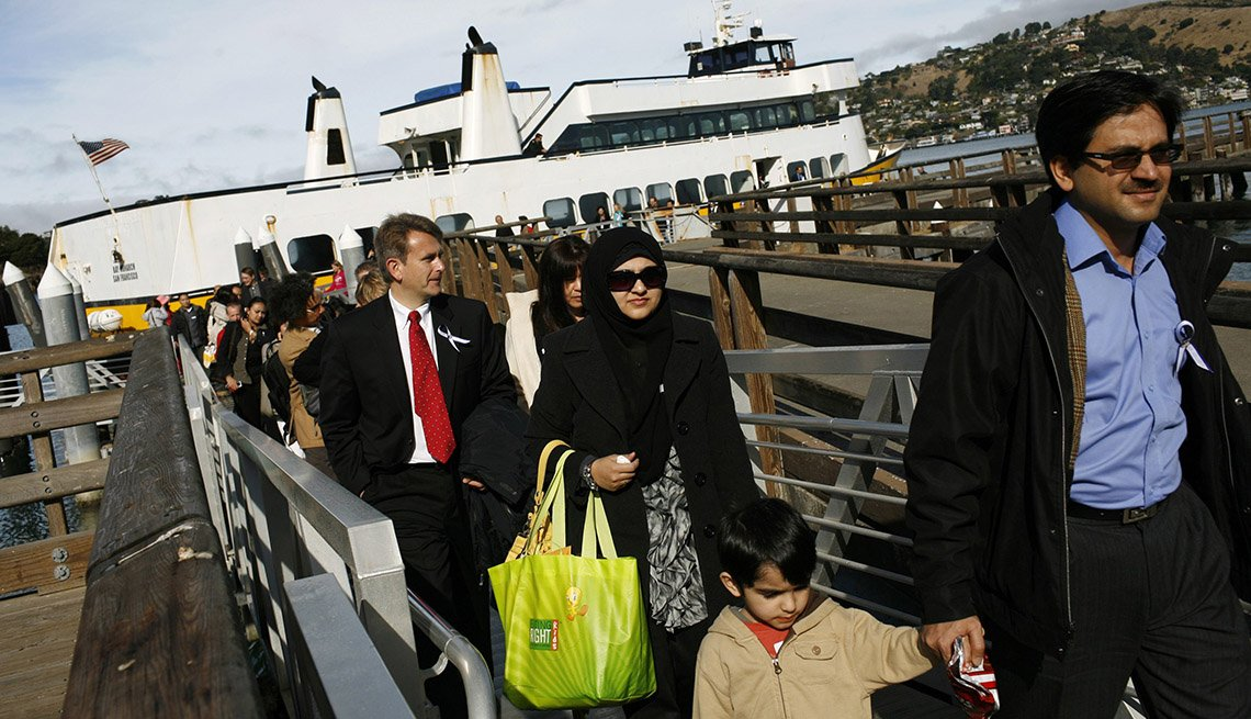 Passengers Depart The Ferry At Angel Island In San Francisco California, Fun Ferry Rides
