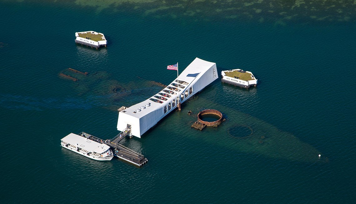 USS Arizona Memorial, Pearl Harbor, Oahu, U.S. Cities for History Buffs