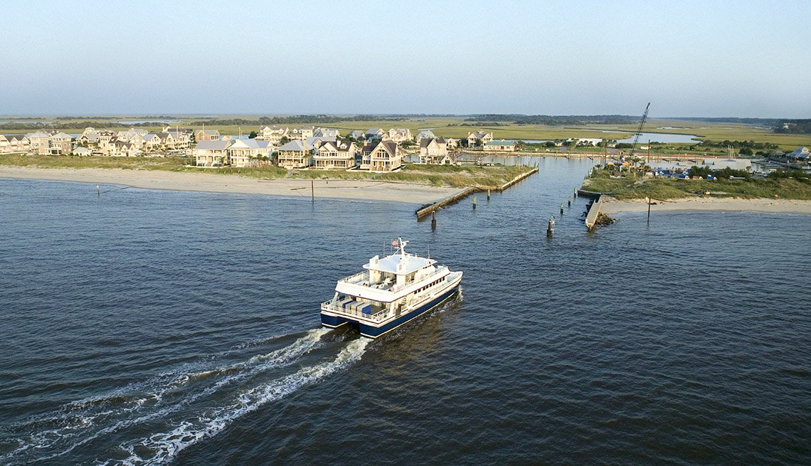 Ferry On Bald Island In North Carolina, Fun Ferry Rides