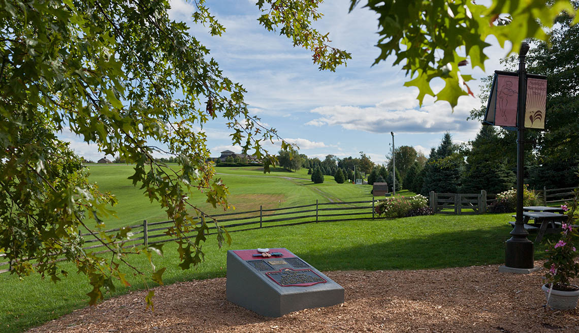 Monument In Bethel New York To The Famous Woodstock Festival, Outdoor Music Venues