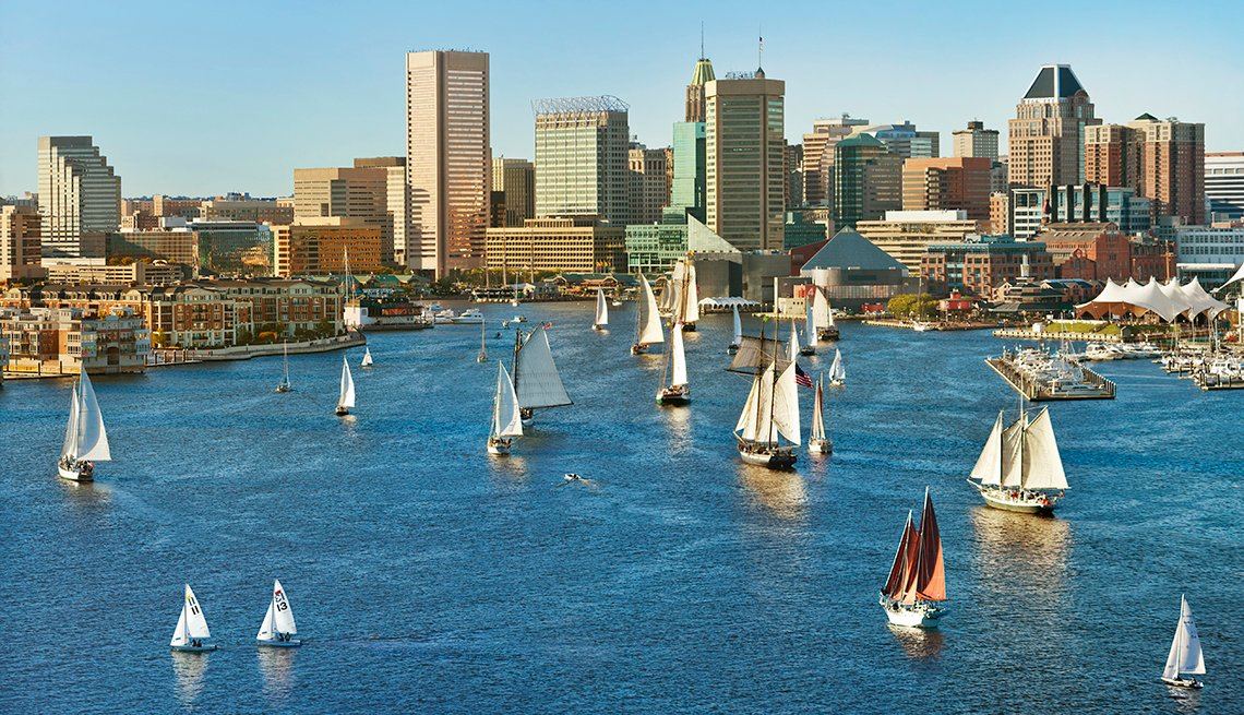 Sailng Ships, Inner Harbor, Baltimore, Budget U.S. Trips