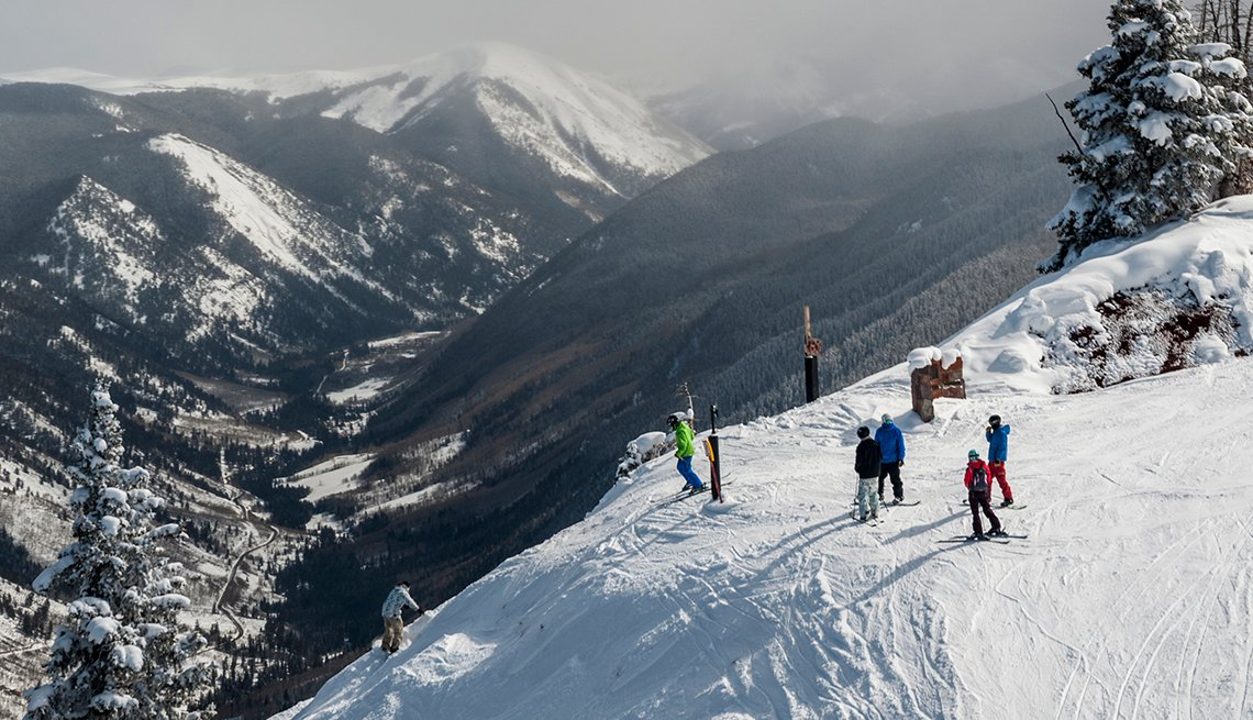 Skiers at Aspen Highlands Ski Area, Aspen Colorado, United States Bucket List Destinations
