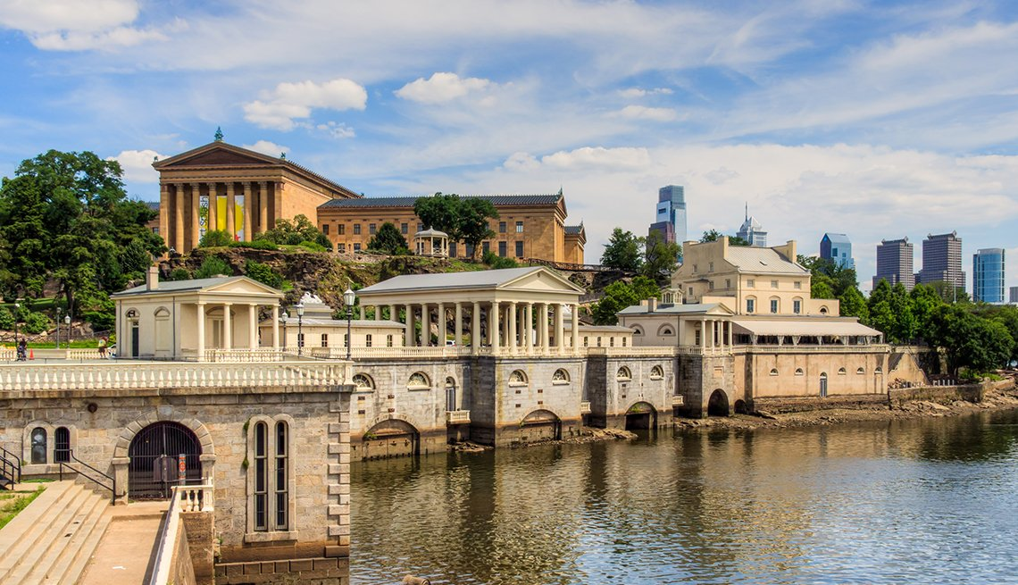 Fairmount Water Works on Schuylkill River in Philadelphia, United States Bucket List Destinations