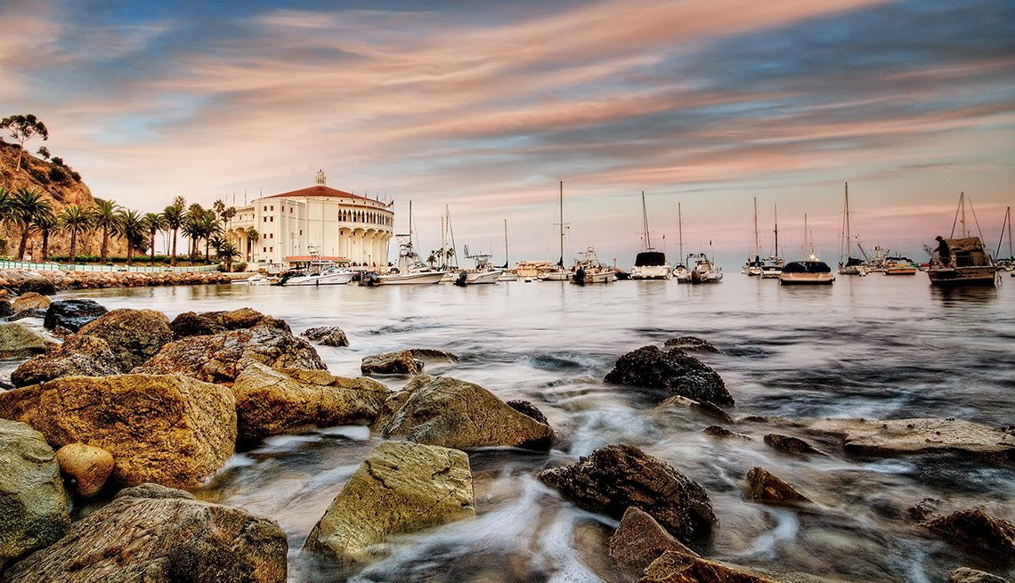 Waves on Rocks, Boats, Catalina Island, Top U.S. Vacation Destinations