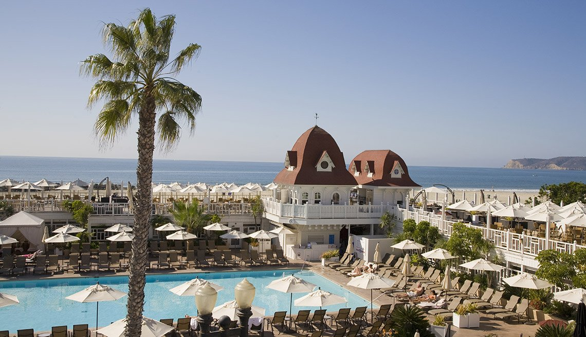View Of The Pool And Ocean At The Hotel Del Coronado, Sunny Holidays