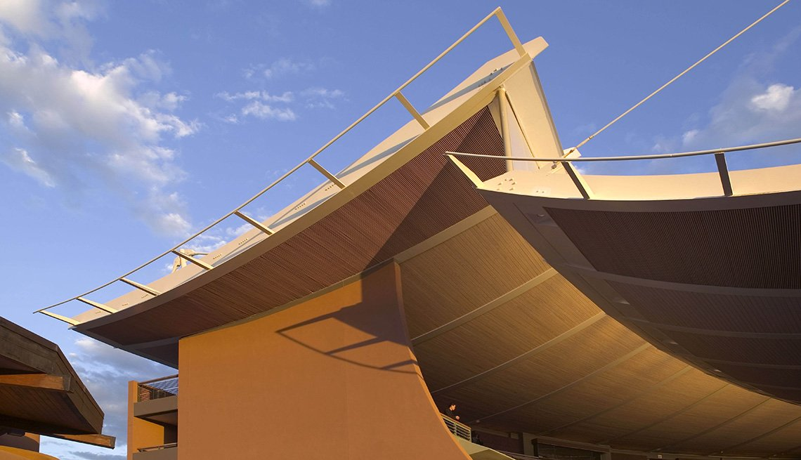 The Santa Fe Opera House In The John Crosby Theater In Santa Fe New Mexico, Outdoor Music Venues